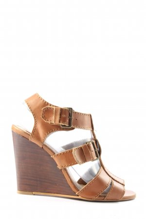 Zara Wedges Sandaletten braun Casual-Look