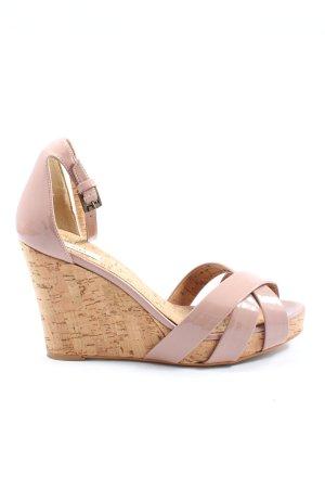 Zara Wedges Sandaletten pink Casual-Look