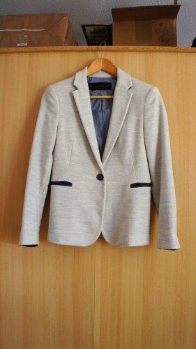 Zara weiß blau Blazer Bürooutfit