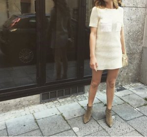 Zara weiß Kleid M