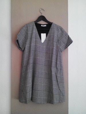 Zara weiß-schwarz Kleid in Glenchek aus 75% Baumwolle, Größe M neu