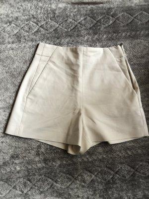 Zara weiße elegante Shorts mit Reißverschluss 34 XS