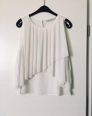 Zara weiße Sommer Bluse Top kurz