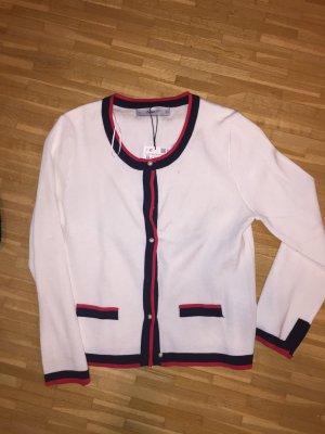 Zara weiße Strickjacke mit Perlenknöpfen XL NEU mit Etikett klassische Impressionen