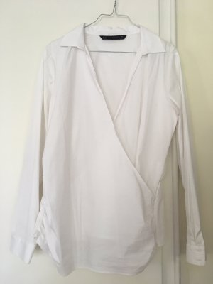 Zara Wraparound Blouse white