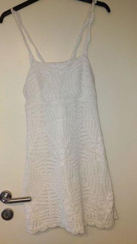 Zara - weißes Häkelkleid Gr. M