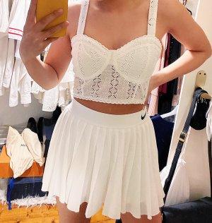 Zara Corsage Top white