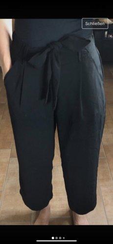Zara weit geschnittene breit Sommer Office Hose schwarz XS 34