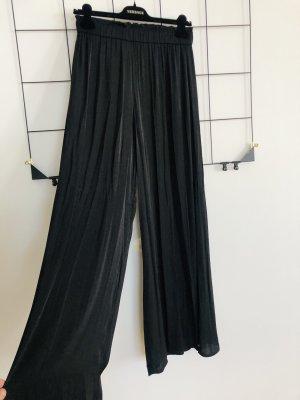 ZARA Weite luftige Hose Flatterhose schwarz