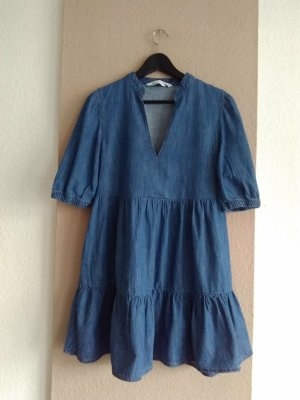 Zara Robe en jean bleu coton