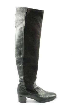 Zara Wide Calf Boots black-brown casual look