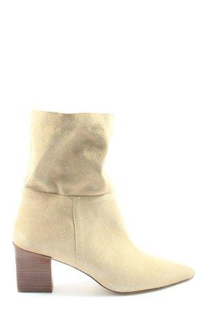 Zara Botki w kolorze białej wełny W stylu casual