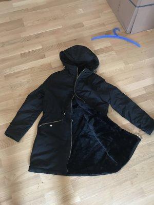 Zara Chaqueta reversible negro piel artificial