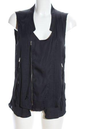 Zara Reversible Vest black casual look