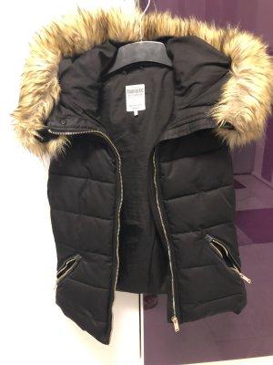 Zara Fur vest black