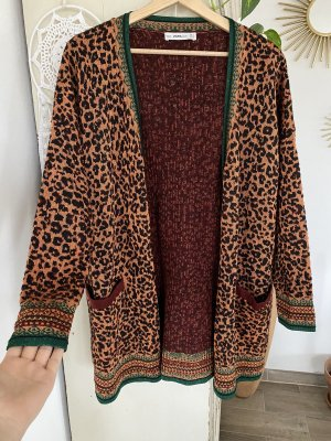 Zara Knit Chaleco de punto multicolor