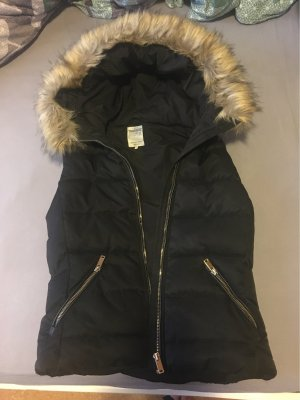 Zara Trafaluc Quilted Gilet black-brown