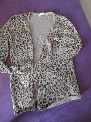 Zara Woman Gilet long tricoté doré