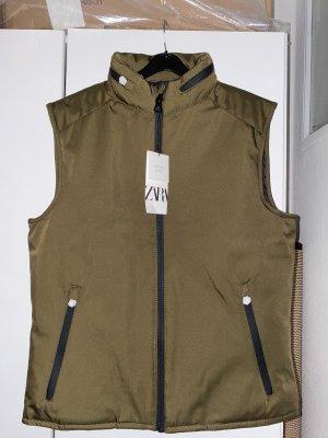 Zara Hooded Vest green grey-khaki