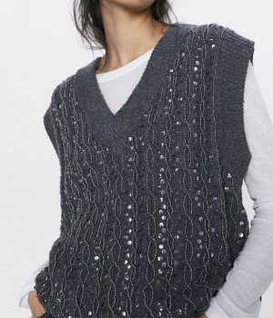 Zara Weste / Pullover ohne Arm, Gr. S, neu, Blogger