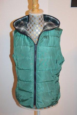 Zara Gewatteerd vest bos Groen Polyester
