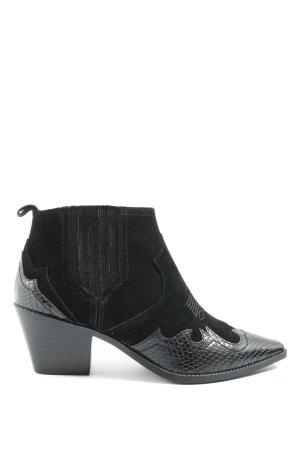 Zara Western-Stiefeletten schwarz Casual-Look