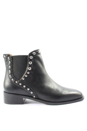 Zara Western-Stiefeletten schwarz Business-Look
