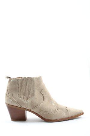 Zara Western Booties natural white casual look