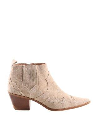 Zara Western Booties cream casual look