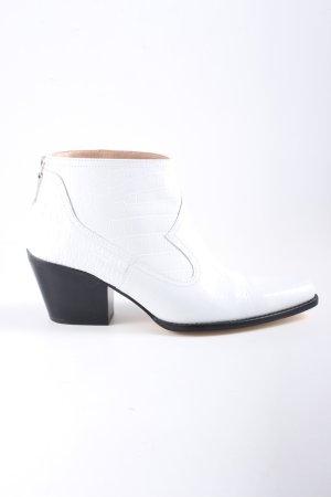 Zara Stivaletto western bianco motivo animale stile casual