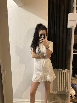 Zara white popline mini dress