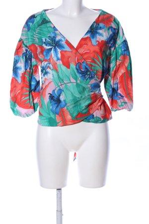 Zara Wraparound Blouse flower pattern casual look