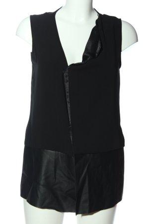 Zara Wickel-Bluse schwarz Casual-Look