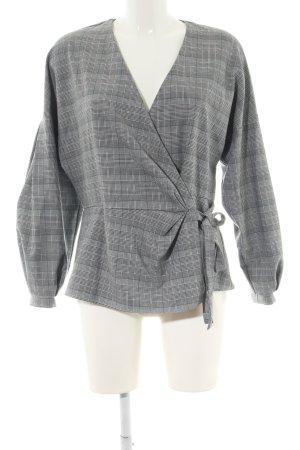 Zara Blouse portefeuille gris clair motif à carreaux style décontracté