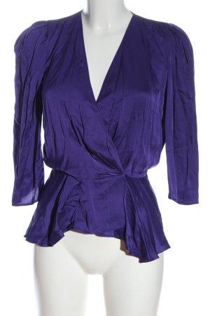 Zara Blouse portefeuille violet style décontracté
