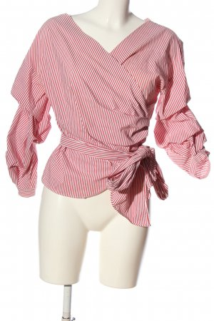Zara Wickel-Bluse rot-weiß Streifenmuster Casual-Look