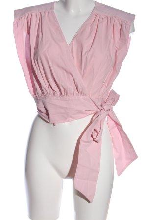 Zara Kopertowa bluzka różowy W stylu casual