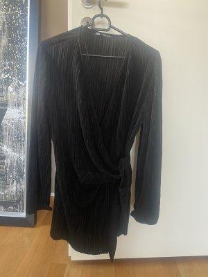 Zara Kopertowa bluzka czarny