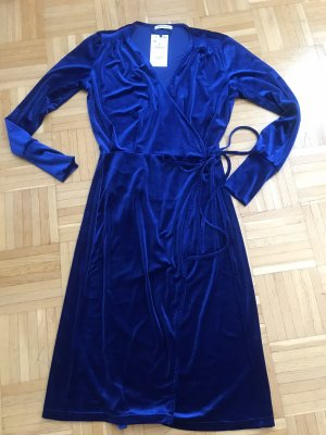 Zara Kopertowa sukienka ciemnoniebieski