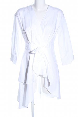 Zara Wraparound white casual look