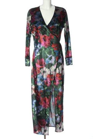 Zara Vestido cruzado estampado repetido sobre toda la superficie elegante