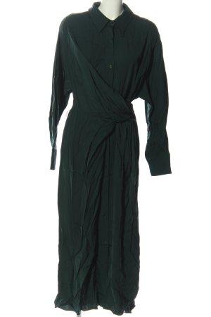 Zara Kopertowa sukienka zielony W stylu casual
