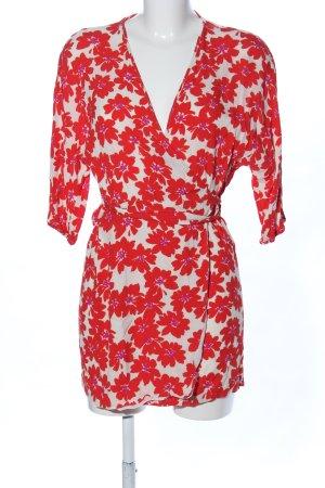 Zara Wraparound cream-red flower pattern casual look
