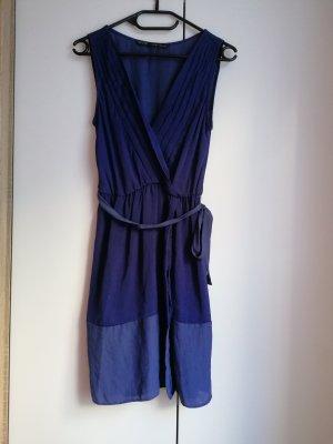 Zara Wickelkleid XS 34 royalblau Sommerkleid