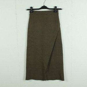 Zara Spódnica z dzianiny jasnobrązowy