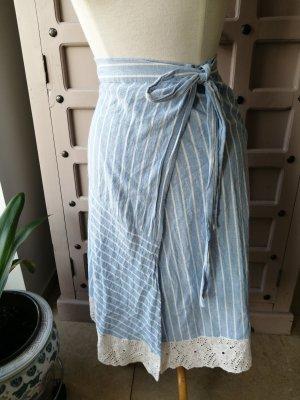 Trf by Zara Wraparound Skirt white-azure