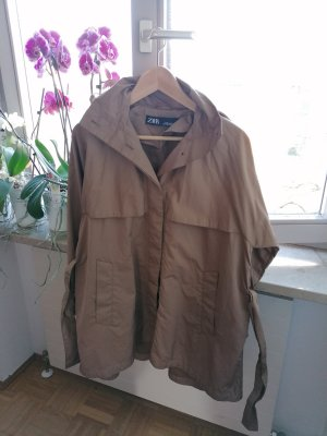 Zara Impermeabile marrone chiaro-marrone