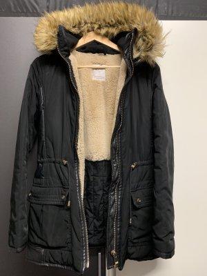 Zara Winter Mantel Parka Gr. XS 34 Kunstfell