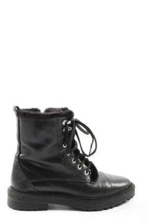Zara Botines de invierno negro look casual