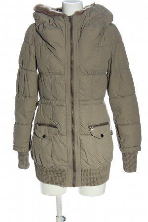 Zara Winterjacke goldfarben Steppmuster Casual-Look